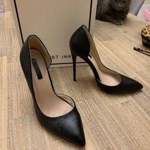 Black Lost Ink D'orsay Pumps Heels 6